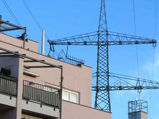 110 kV und 220 kV kombiniert, Hochspannungsleitung, Freileitung