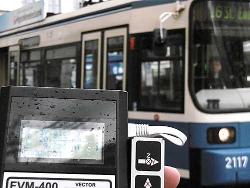 Magnetfeld, Gleichstrom, Magnetometer, Trambahn, Straßenbahn