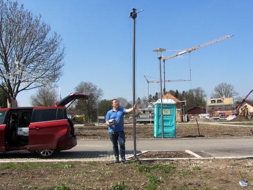 Mobilfunkmessung wird genauer, daher auf Antennenmast messen!